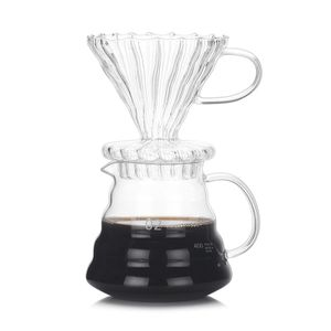 Kaffeekanne Glas Hochtemperaturbeständige Kaffeekannen Mit Filter, 0.8 Liter