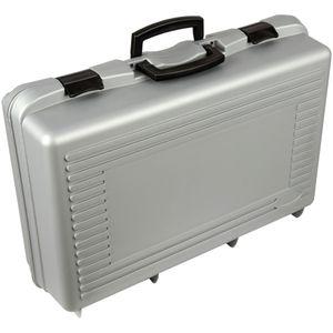 Werkzeugkoffer Aufbewahrungsbox unbefüllt / leer ( 57 x 36 x 17 cm ), ohne Kammern, Koffer zum transportieren, Tragekoffer, Werkzeugbox