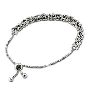 SilberDream Armband bis 24cm 925er Silber Königskette Damen Schmuck SDA6002J