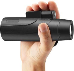 Fernglas Wasserdicht 12x Vergrößerung für Handy Monokular 12x50 mit Telefonhalterung zur Vogelbeobachtung mit Stativ
