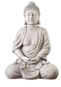 NEUSTEIN XXXL Großer Buddha 70 cm Steinfigur Garten Deko Figur Skulptur Feng Shui sitzend XB3002