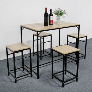 BESTSELLER!!! Esstisch mit 4 Stühlen Esszimmer Essgruppe 100x87x60cm für Esszimmer Essgruppe(Holzfarbe) Kombipakete