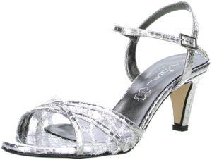 Vista Damen Sandaletten silber, Größe:41, Farbe:Silber