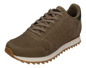 WODEN Damen Sneakers YDUN CROCO II WL049-295 dark olive, Größe:38 EU