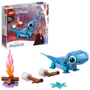 LEGO 43186 Disney Princess Frozen 2 Salamander Bruni, Spielzeug aus dem Film Die Eiskönigin 2 mit Feuergeist-Figur, kleines Geschenk für Kinder