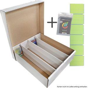 Riesen Deck-Box - Aufbewahrung (weiß) für 4000 Karten (Magic / Pokemon / YuGiOh Karten) + collect-it Hüllen