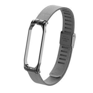 Xiaomi Armband fuer Mi Band 3 4 Strap, Band 3 4 Metallarmband Ersatzarmbänder Ersatz Strap Erweiterbar Armband für Xiaomi Mi Band 3 4,Schwarz