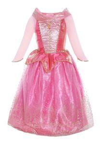 Dornröschen Märchen Prinzessin Sleeping Beauty Mädchen-Kostüm mit Tüll-Rock, Kleid für Kinder Inspiriert von Disney Aurora Karneval 134/140