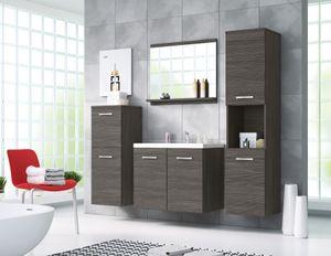 Badmöbel 4-Teilig Set MOLO Bodega kiefer Farbe mit Waschbecken