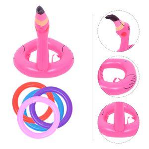 2 Sätze Flamingo aufblasbare Ringwurf Spiel Wurf Ring Toss Spiel Für Kinder