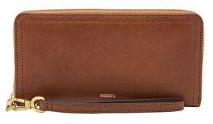 FOSSIL Logan RFID Zip Around Clutch Brown
