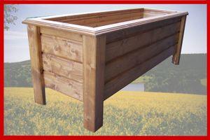 Hochwertiger Classic lasiert Außenmaße 110 x 30 x 26 cm Blumenkasten Hochbeet Pflanztrog Nr. PK - REAL-2557