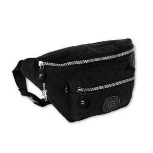 Bag Street Nylon Damen Herren Bauchtasche Gürteltasche Belt Bag schwarz 27x10x16 - inklusive Fee-Anhänger D2OTJ506S