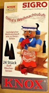 """KNOX Spezial Edition  Räucherkerzen """" Omas Weihnachtsduft """" 24 Stck"""