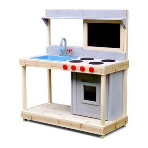 Coemo Spielküche Noah Outdoor Matschküche mit Kreidetafel