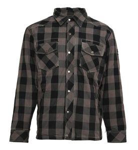 Bores Lumberjack Jacken-Hemd schwarz / grau Herren XL