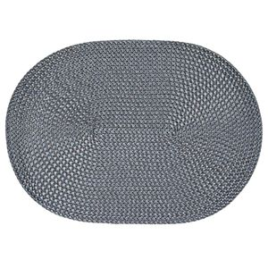 Tischset oval grau 33x45 cm Basket Platzset abwaschbar Platzdeckchen geflochten