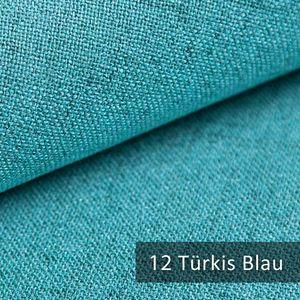 novely® AUEN Webstoff   Polsterstoff   Türkis Blau   M-AUE-12