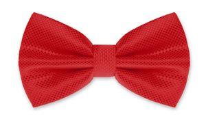 Fliege Herren Hochzeit Konfirmation Anzug Smoking Schleife Schlips kariert verstellbar Autiga® rot-rot