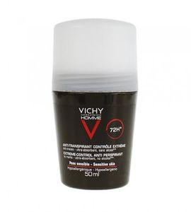 Vichy Homme Roll On Deodorant Sensitive Skin 72H 50ml