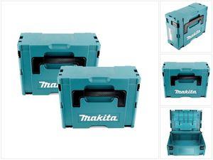 2x Makita Kunststoff Werkzeug Koffer MAKPAC 2 - ohne Einlage