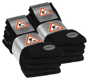 VCA® Arbeits- und Freizeit Socken 10 Paar Schwarz 43-46