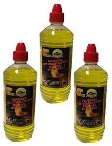 Brenngel 3x 1 Liter für Gelkamine Ethanolkamine Wandkamine Bodenkamine Bioethanol