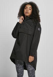 Urban Classics Damen Winterjacke Ladies Long Oversized Pull Over Jacket Black-XL