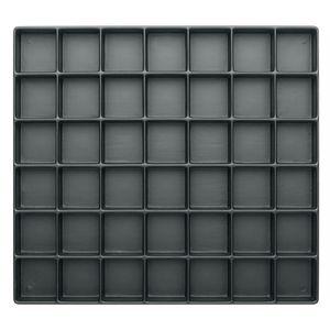 Warmbier Tiefzieh-Tray 20 mm, ESD, Fächer 42 Stück, 34 x 36 mm