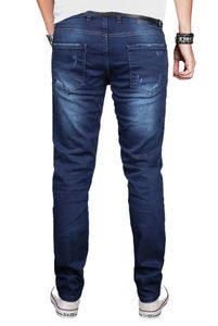 A. Salvarini Herren Jeans Blau AS051 W38 L30 - W38/L30