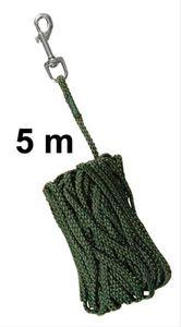 Schleppleine Ø 5 mm Nylon TRIXIE Länge 5 m grün