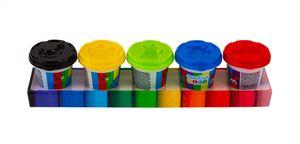 Creative Kids Knete-Set 5 Farben mit je 140g Knetmasse Modellierknete Softknete Spielknete