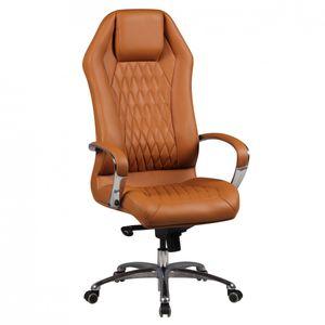 Bürostuhl MONTEREY Echt-Leder Caramel Schreibtischstuhl