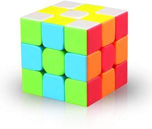 Zauberwürfel 3x3 Stickerless, Speed Cube 3x3x3 3D Puzzle Würfel Spielzeug für Kinder