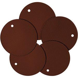 Silikon-Topflappen, rutschfeste Mehrzweckisolierung Wabengummi-Hotpads-Untersetzer, hitzebeständige rutschfeste Tischset, 5er-Pack