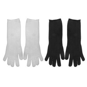 2 Paar Lange Schnittschutzhandschuhe lebensmittelecht Arbeitshandschuhe schnittfeste Handschuhe Hochleistung Level 5