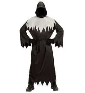 Sensenmann-Kostüm für Herren Halloweenkostüm schwarz-weiss