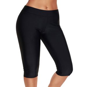 Damen Strandkleidung Hohe Taille Bad unten Tankini Swimwear Shorts Hosen Boardshorts,Farbe:Schwarz,Größe:M