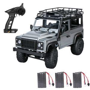 MN 99s 2.4G 1/12 4WD RTR Crawler RC Auto Geländewagen für Land Rover Fahrzeugmodelle 3 Batterien