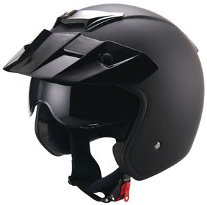 Jethelm 723 Motorradhelm Helm Größe XL matt schwarz Sturzhelm Rollerhelm mit Sonnenvisier