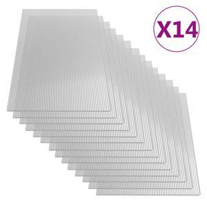 vidaXL Polycarbonatplatten 14 Stk. 4 mm 121 x 60 cm