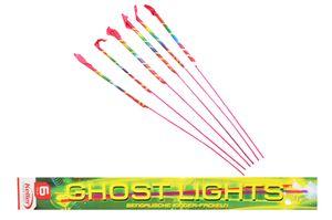 6 Stück Bengalische Kinderfackeln - Ghostlights ganzjahres Fackeln Kinderfeuerwerk roter, silberner Flamme und Silberglitzer BAM 0589-F1-0103