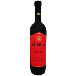Mildiani Rotwein Mukuzani 0,75L georgischer Wein trocken dry wine