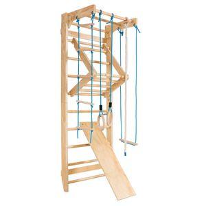 COSTWAY Klettergerüste, Sprossenwand Holz, 100kg belastbar, Kletterwand 80x60x220cm