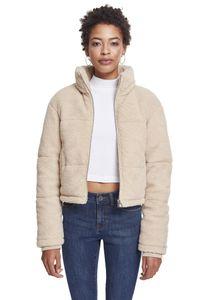 Urban Classics Damen Jacke Ladies Boxy Sherpa Puffer Jacket Darksand-3XL