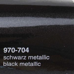 (16,44€/m²) Oracal 970RA Autofolie 704 Schwarz Metallic Glanz Folie 152 cm Breite Laufmeterware gegossene Auto Folie selbstklebend