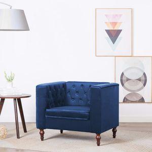 Sessel Blau Samt