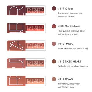 5 Farben Matte Liquid Lip Gloss / Samt Matt Lippenstift - Waterproof Long Lasting Moisturizing