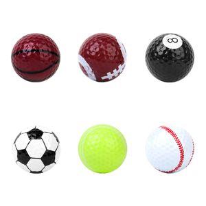 Verschiedenen Designs Golfbälle (Basketball, Fußball, Tennis, Baseball, 8 Ball, Volleyball)   6 Bälle