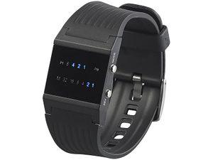 Binär-Armbanduhr mit blauen LEDs